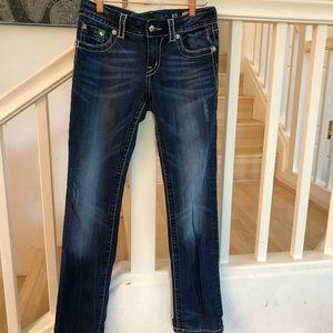 Miss Me Jeans - Miss Me Rhinestone pocket design straight leg 28